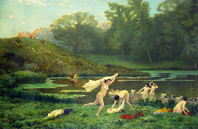 Jean-leon Gerome Painting - Diana And Actaeon by Jean-Leon Gerome