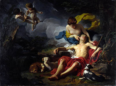 Endymion Painting - Diana And Endymion by Pierre Subleyras