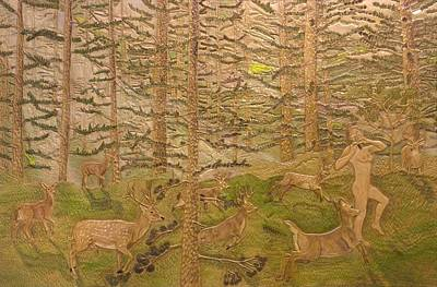 Diana And The Deer Original