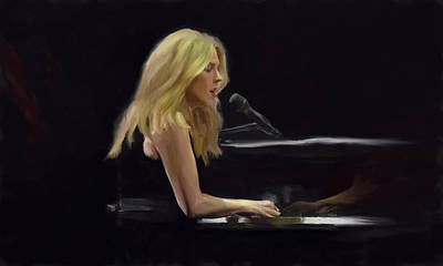 Painting - Diana Krall by GCannon