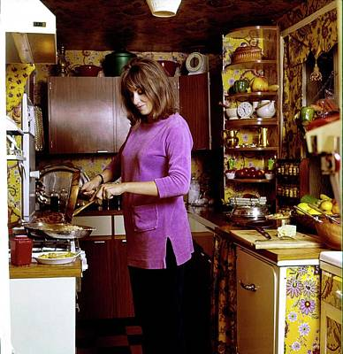 Photograph - Diana Phipps Cooking At Home by Henry Clarke