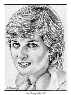 Diana - Princess Of Wales In 1981 Art Print