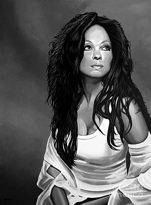 Music Artist Mixed Media - Diana Ross by Meijering Manupix
