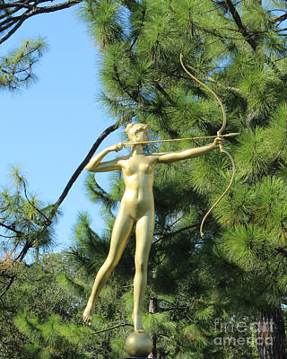 Photograph - Diana Statue by Steven Parker