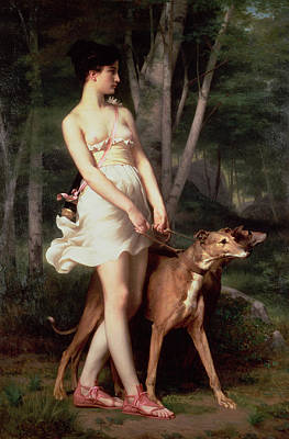 Female Goddess Photograph - Diana The Huntress by Gaston Casimir Saint-Pierre