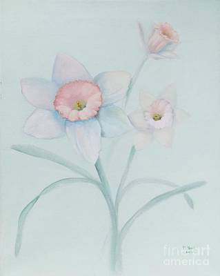 Still Life With Daffodils Painting - Dianne's Daffodils by Marlene Book