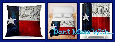Painting - Dianochedesigns Texas Flag by Patti Schermerhorn