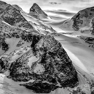 St. Timothy Photograph - Diavolezza Peaks Bw by Timothy Hacker