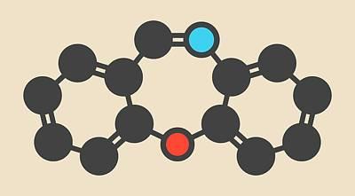 Incapacitated Photograph - Dibenzoxazepine Tear Gas Molecule by Molekuul