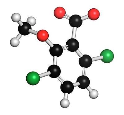 Toxicity Photograph - Dicamba Herbicide Molecule by Molekuul