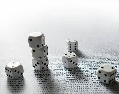 Heredity Photograph - Dice And Dna by Robert Brook