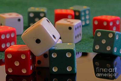 Board Game Photograph - Dice by Paul Ward