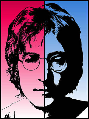 Mccartney Digital Art - Dichotomous Lennon by Daniel Hagerman