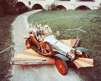 Dick Van Dyke In Chitty Chitty Bang Bang  Art Print by Silver Screen