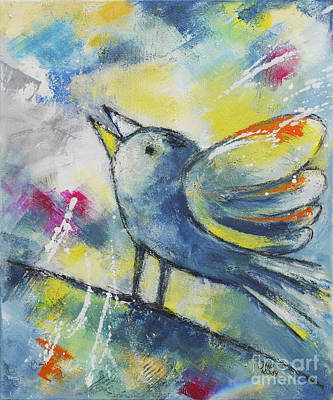 Painting - Dickybird by Jutta Maria Pusl