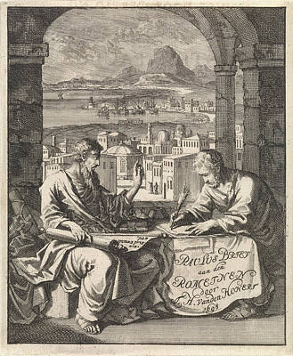 Dictate Drawing - Dictates Tertius The Letter To The Romans by Quint Lox