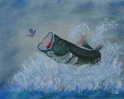 Dragonflys Painting - Did He Or Didn't He ? by Bob Williams