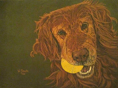Painting - Did Somebody Say Ball? by Wendy Shoults