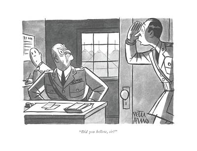 Did You Bellow Art Print by Peter Arno