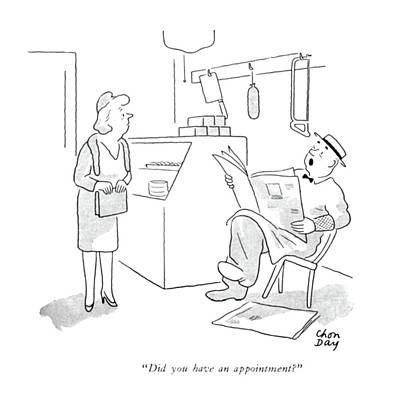 Grocery Drawing - Did You Have An Appointment? by Chon Day
