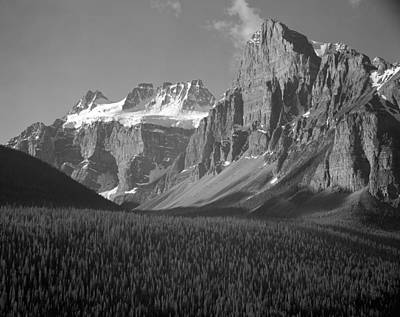 Photograph - 1m3476-quadra And Babel Mountains-bw by Ed  Cooper Photography