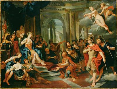 Aeneas Painting - Dido And Aeneas Nicolas Verkolye, Dutch by Litz Collection
