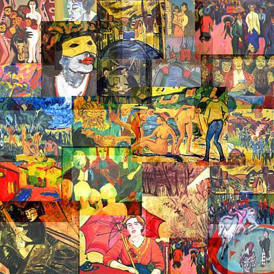 Timeline Mixed Media - Die Brucke Movement 1905 To 1913 by Anders Hingel