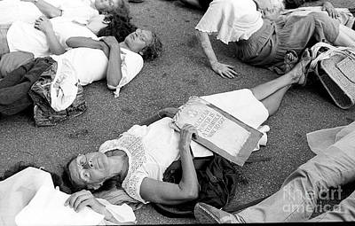 Photograph - Die In Protest 1979 by Ed Weidman
