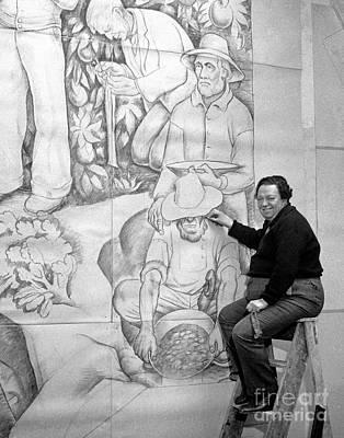 San Diego Artist Photograph - Diego Rivera Muralist 1930 by Martin Konopacki Restoration