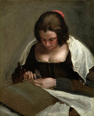 Needlewoman Painting - Diego Velázquez Spanish, 1599 - 1660, The Needlewoman by Quint Lox