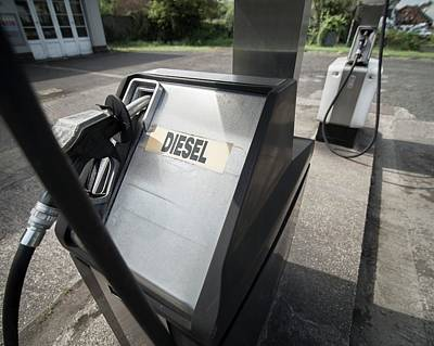 Filling Station Photograph - Diesel Pump At Filling Station by Robert Brook
