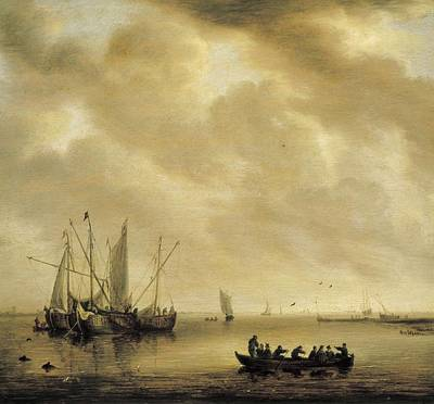 Diest, Willem Van 1610-1673. Seascape Art Print