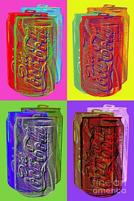 Soft Digital Art - Diet Coke - Coca Cola by Jean luc Comperat