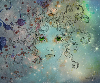 Art Print featuring the digital art Different Being by Barbara Orenya