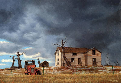 Abandoned Buildings Painting - Different Day At The Homestead by Paul Krapf