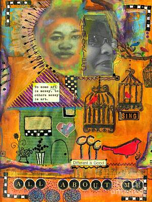 Art Journal Mixed Media - Different Is Good by Angela L Walker