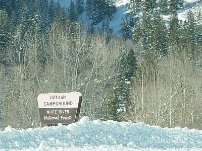 Winter Photograph - Difficult Campground Colorado by Deborah Smolinske