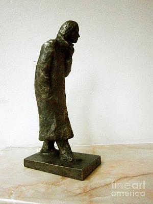 Statue Sculpture - Difficult Days by Nikola Litchkov