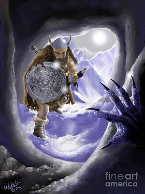 Digital Art - Digging Out Troll by Rick Mittelstedt
