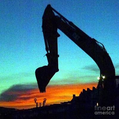 Photograph - Digging Sunset by Barbie Corbett-Newmin