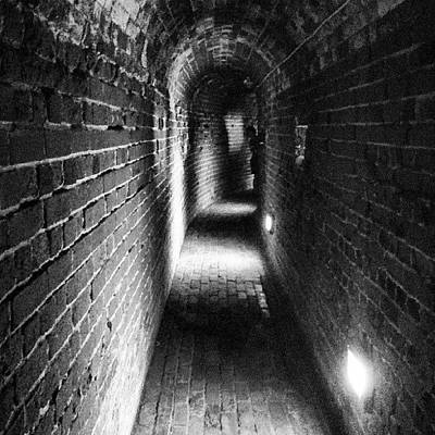 Dungeon Photograph - Digging Those Tunnels Not!!! Southsea by Bex Byrne