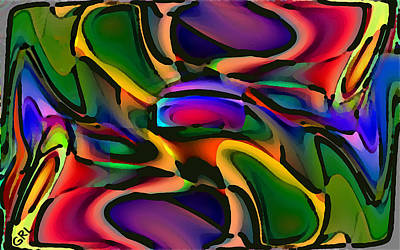 Painting - Digital Abstract Citiscape 3000 by G Linsenmayer