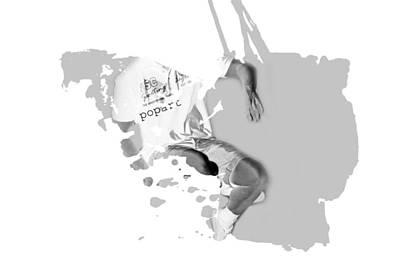 Contemplation Mixed Media - Digital Art Fantasy Guy Floating by Tommytechno Sweden