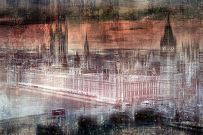 Spot Digital Art - Digital-art London Westminster II by Melanie Viola