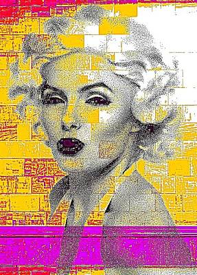 Etc. Digital Art - Digital Art Marilyn by HollyWood Creation By linda zanini