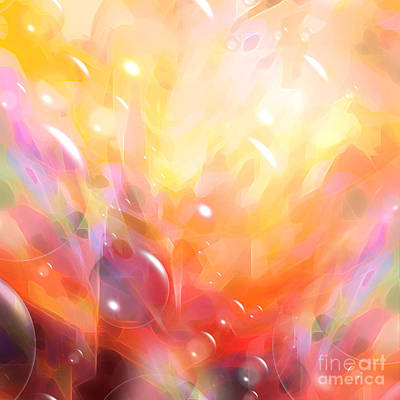 Digital Bubbles Art Print