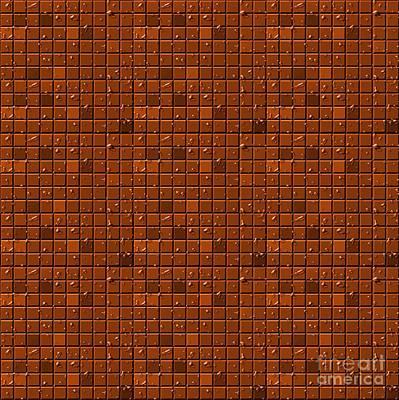 Digital Art - Digital Chocolate Background by Yali Shi