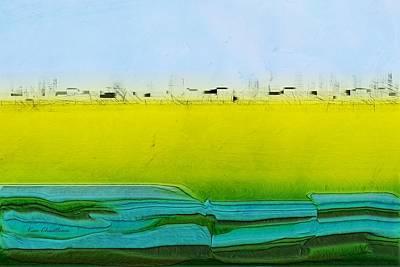 Digital City Landscape Art Print