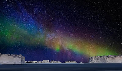 Outer Worlds Photograph - Digital Composite - Aurora Borealis Or by Panoramic Images