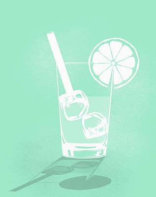 Digital Art - Digital Composite Image Of Cold Drink by Malte Mueller